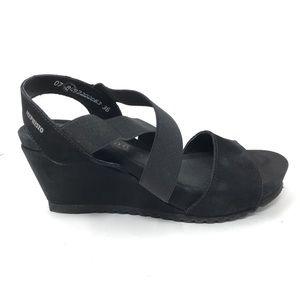 Mephisto Sz 36 US 6 Giuliana Wedge Sandals Black